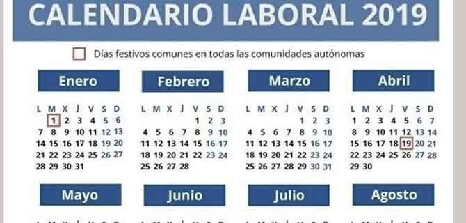 Calendario Laboral 2019 Navarra.El Calendario Laboral De 2019 Cuenta Con 12 Dias Festivos Solo 8