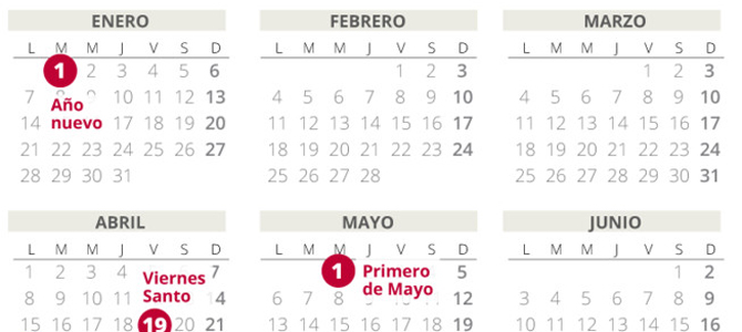 Calendario Laboral Espana 2019.El Calendario Laboral De 2019 Recoge 12 Dias Festivos Eldiadigital